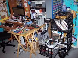 computer junk room